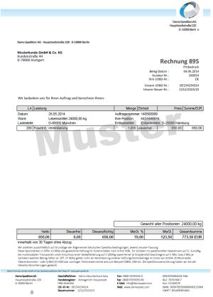 Gehr Speditionssoftware Speditionssoftware Dycos One Abrechnung